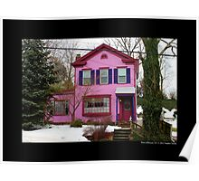 Pink And Purple House On East Broadway - Port Jefferson, New York  Poster