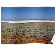 Island Lagoon, outback South Australia Poster