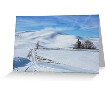 Traveling the roads of the Palouse Greeting Card
