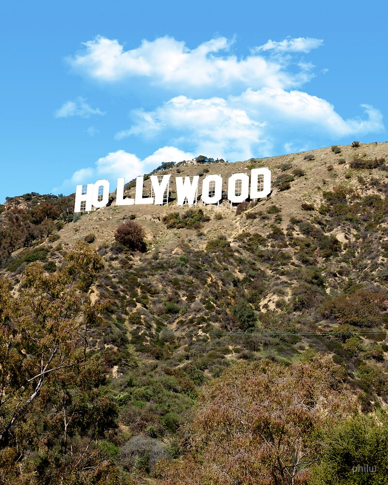 The famous Hollywood sign, Hollywood, Ca. by philw