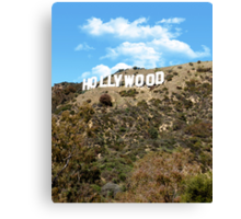 The famous Hollywood sign, Hollywood, Ca. Canvas Print