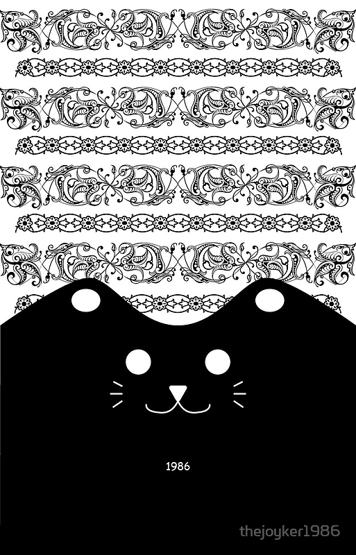 Elegant Lace with Cute Black Cat by thejoyker1986