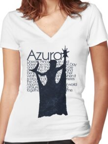 Azura - DAEDRIC PRINCE Women's Fitted V-Neck T-Shirt