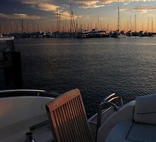 The Aft Deck At Sunset by Noel Elliot