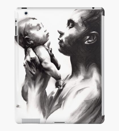 Shadowtwister, reflections - conté drawing iPad Case/Skin