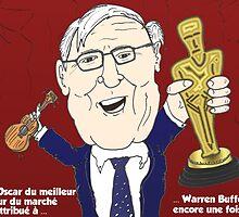 Oscar meilleur acteur Warren BUFFET caricature by Binary-Options