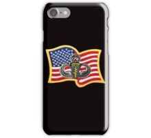 Special Forces Patch with U.S. Flag iPhone Case/Skin