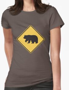 Bear Crossing Womens Fitted T-Shirt