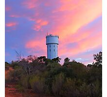 Loxton Water Tower at Sunset Photographic Print