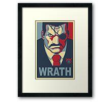 Wrath - Vote For King Bradley Framed Print