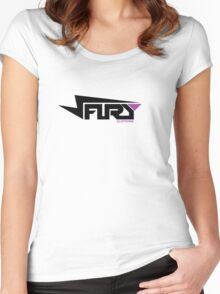 FURY CLOTHING BLACK/PURPLE Women's Fitted Scoop T-Shirt