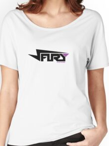 FURY CLOTHING BLACK/PURPLE Women's Relaxed Fit T-Shirt