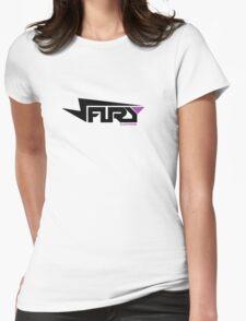 FURY CLOTHING BLACK/PURPLE Womens Fitted T-Shirt