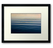 The Pacific Ocean sunset Framed Print