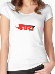 FURY CLOTHING RED/BLACK Women's Fitted Scoop T-Shirt