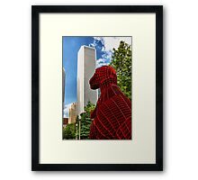 Dinosaur in the City Framed Print