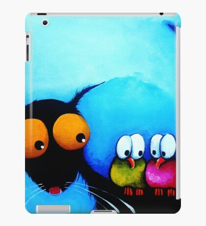 Stressie Cat and the Whimsical Birds iPad Case/Skin