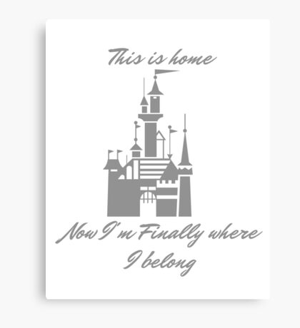 this is home Canvas Print
