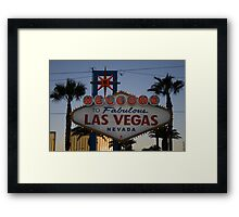 Welcome to Fabulous Las Vegs Framed Print