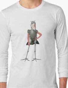 Posing Shoebill  Long Sleeve T-Shirt