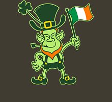 Proud Leprechaun Waving an Irish Flag Unisex T-Shirt