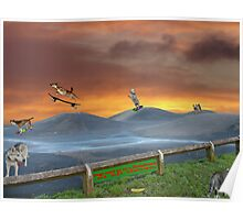 Pets Skateboard track. Poster