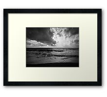 Moody Sea Framed Print