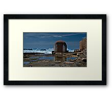 Newcastle Ocean Baths, The Pumphouse Framed Print