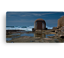 Newcastle Ocean Baths, The Pumphouse Canvas Print