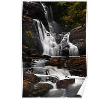 Bakers Fall. Horton Plains National Park. Sri Lanka Poster