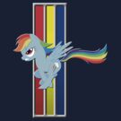 Mustang Rainbow Dash (Logo) by GoneIn10Seconds