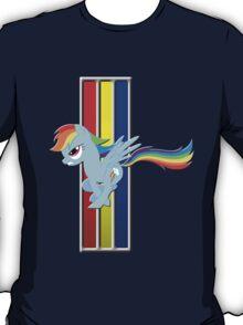 Mustang Rainbow Dash (Logo) T-Shirt