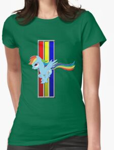 Mustang Rainbow Dash (Logo) Womens Fitted T-Shirt