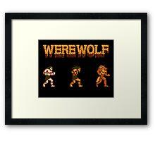 Werewolf Tribute Framed Print