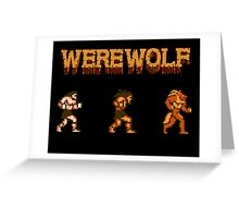 Werewolf Tribute Greeting Card