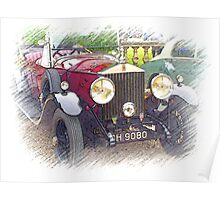 1929 Rolls Royce 20/25 .. a star of Blandings! Poster