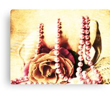 Lucky  Elephant & Rose Canvas Print