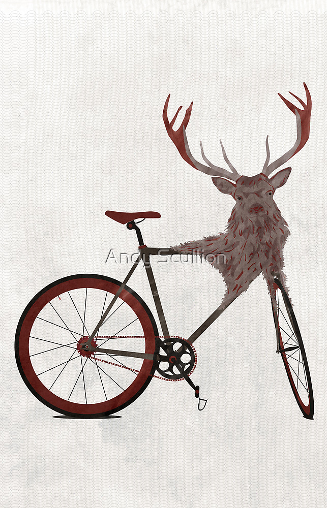 Stag Bike by Andy Scullion