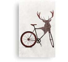 Stag Bike Canvas Print
