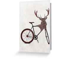 Stag Bike Greeting Card