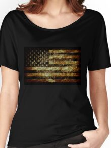 Grunge American Flag 3 Women's Relaxed Fit T-Shirt