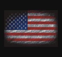 Grunge American Flag 4 by Nhan Ngo