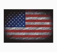 Grunge American Flag 4 Kids Tee