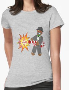 Gingerbread Gangster Womens Fitted T-Shirt