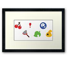 Animal Crossing Pattern Framed Print