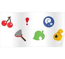 Animal Crossing Pattern Poster