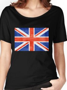 Grunge United Kingdom Flag Women's Relaxed Fit T-Shirt