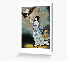 Abijah Canfield Liberty in the Form of the Goddess of Youth Giving Support to the Bald Eagle, 1800 now at the Henry Ford Museum and Greenfield Village (1) Greeting Card