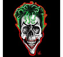 Joker Skull Photographic Print