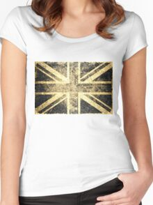 Grunge United Kingdom Flag 4 Women's Fitted Scoop T-Shirt